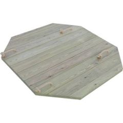 Heavy Duty Wooden Lid for 4ft Octagonal Sand Pit