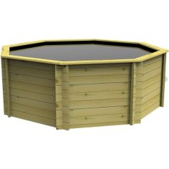 Octagonal Wooden Pond 10ft – 1099mm Height – 44mm Thick Wall