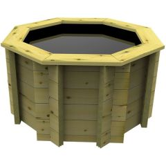 Octagonal Wooden Pond – 4ft – 697mm Height – 27mm Thick Wall