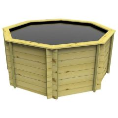 Octagonal Wooden Pond 6ft - 1099mm Height - 27mm Thick Wall