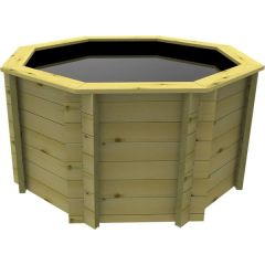 Octagonal Wooden Pond - 6ft - 697mm Height - 27mm Thick Wall