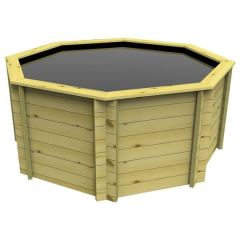 Octagonal Wooden Pond 8ft - 1099mm Height - 44mm Thick Wall