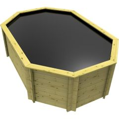 Stretched Octagonal Wooden Pond 12ft x 8ft – 1099mm Height - 44mm Thick Wall