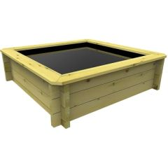 Wooden Pond 1.5m x 1.5m – 697mm Height – 27mm Thick Wall
