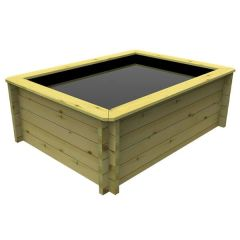 Wooden-Pond 1.5m x 1m - 429mm Height - 27mm Thick Wall