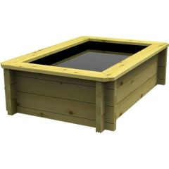 Wooden Pond 1.5m x 1m – 697mm Height – 44mm Thick Wall