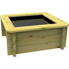 Wooden Pond 1m x 1m - 697mm Height – 44mm Thick Wall