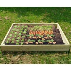 Wooden Raised Veg Beds Pack of 3 2 of 1m x 1m 1 of 2m x 1m