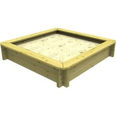 Wooden Sandpit - 1.5m x 1.5m – 295mm Height – 44mm Thick Wall