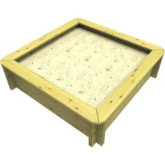 Wooden Sandpit - 1.5m x 1.5m – 429mm Height – 44mm Thick Wall