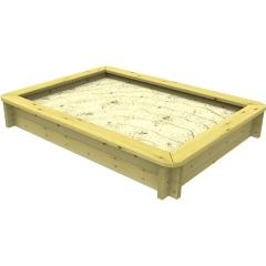 Wooden Sandpit - 1.5m x 1m – 295mm Height – 27mm Thick Wall