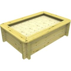 Wooden Sandpit - 1.5m x 1m – 429mm Height – 44mm Thick Wall