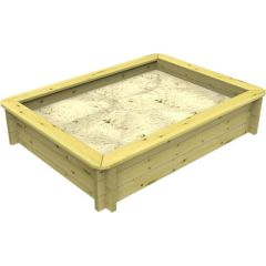 Wooden Sandpit - 1.5m x 1m – 429mm Height – 27mm Thick Wall