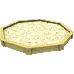 Wooden Sandpit - 10ft Octagonal – 295mm Height – 27mm Thick Wall