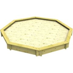 Wooden Sandpit - 10ft Octagonal – 295mm Height – 44mm Thick Wall