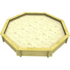 Wooden Sandpit - 10ft Octagonal – 429mm Height – 44mm Thick Wall
