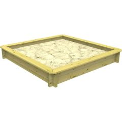 Wooden Sandpit - 1m x 1m – 295mm Height – 27mm Thick Wall