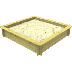 Wooden Sandpit - 1m x 1m – 429mm Height – 27mm Thick Wall