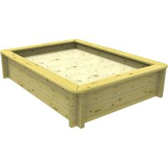 Wooden Sandpit - 2m x 1.5m – 429mm Height – 44mm Thick Wall