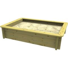 Wooden Sandpit - 2m x 1m – 429mm Height – 44mm Thick Wall