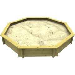 Wooden Sandpit - 6ft Octagonal – 429mm Height – 44mm Thick Wall