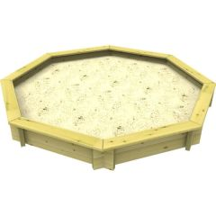 Wooden Sandpit - 8ft Octagonal – 295mm Height – 44mm Thick Wall