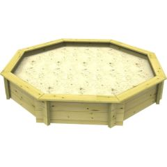 Wooden Sandpit - 8ft Octagonal – 429mm Height – 44mm Thick Wall