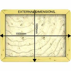 Image of External Dimensions of a 27mm 1.5m x 1m Sandpit