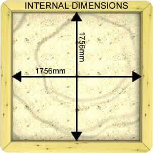 Image of Internal Dimensions of a 44mm 2m x 2m Sandpit